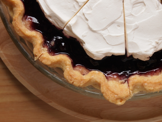 Stock blueberry pie