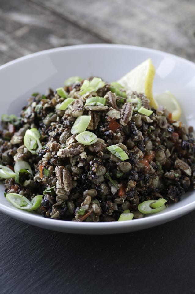Stock linzen quinoa salade