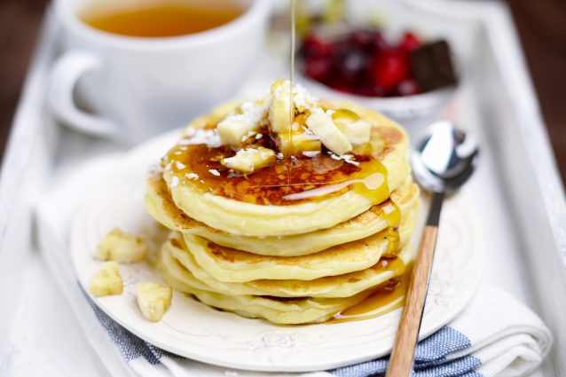 Stock banana pancakes
