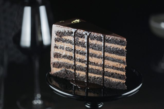 Stock chocolade mousse cake