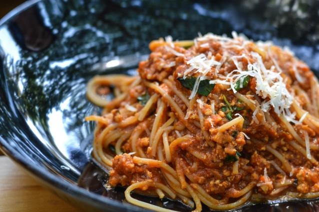 Stock spaghetti bolognese