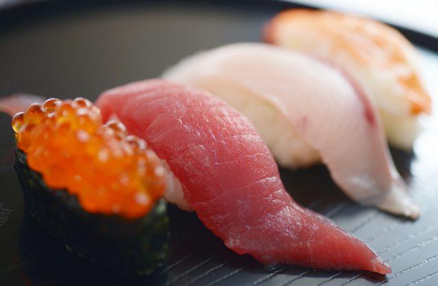 Stock Nigiri sushi