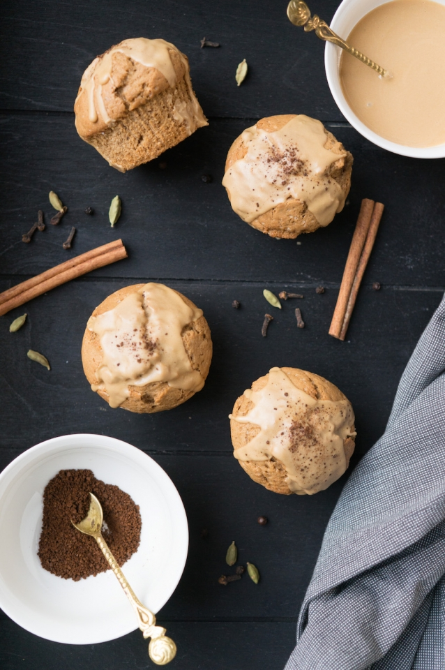dirty chai muffins