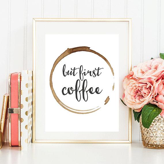 etsy koffie print