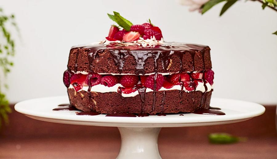 Foto van de supermakkelijke chocoladetaart van Jamie Oliver (taartrecepten)