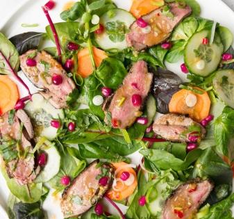 Spicy Aziatische salade met eend
