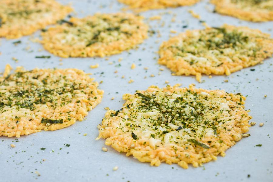 furikake Parmezaanse kaas koekjes