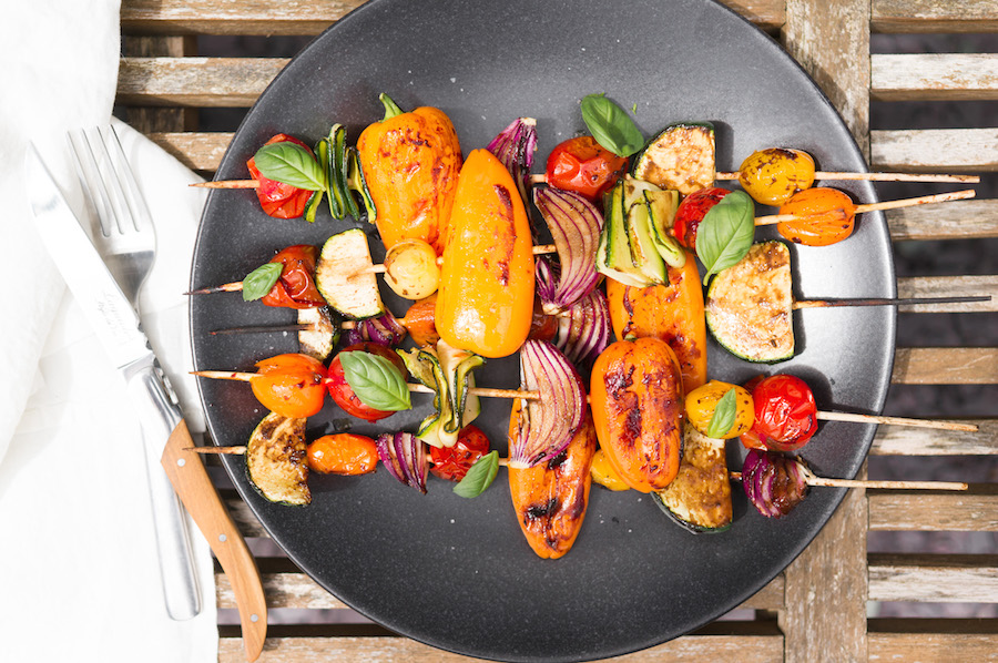 zomerse barbecue recepten groentespies