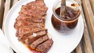 zacht gegaard rundvlees van de bbq