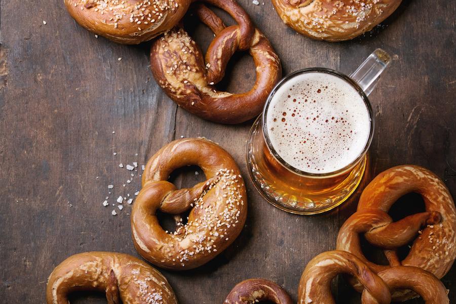 pretzels bier