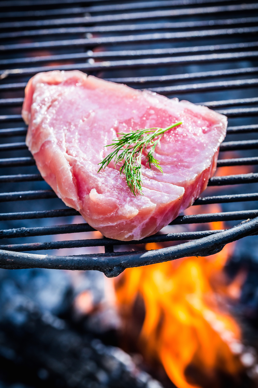 vis grillen tonijn