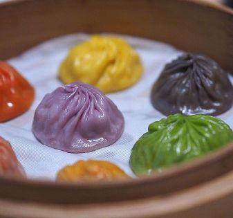 gekleurde dumplings