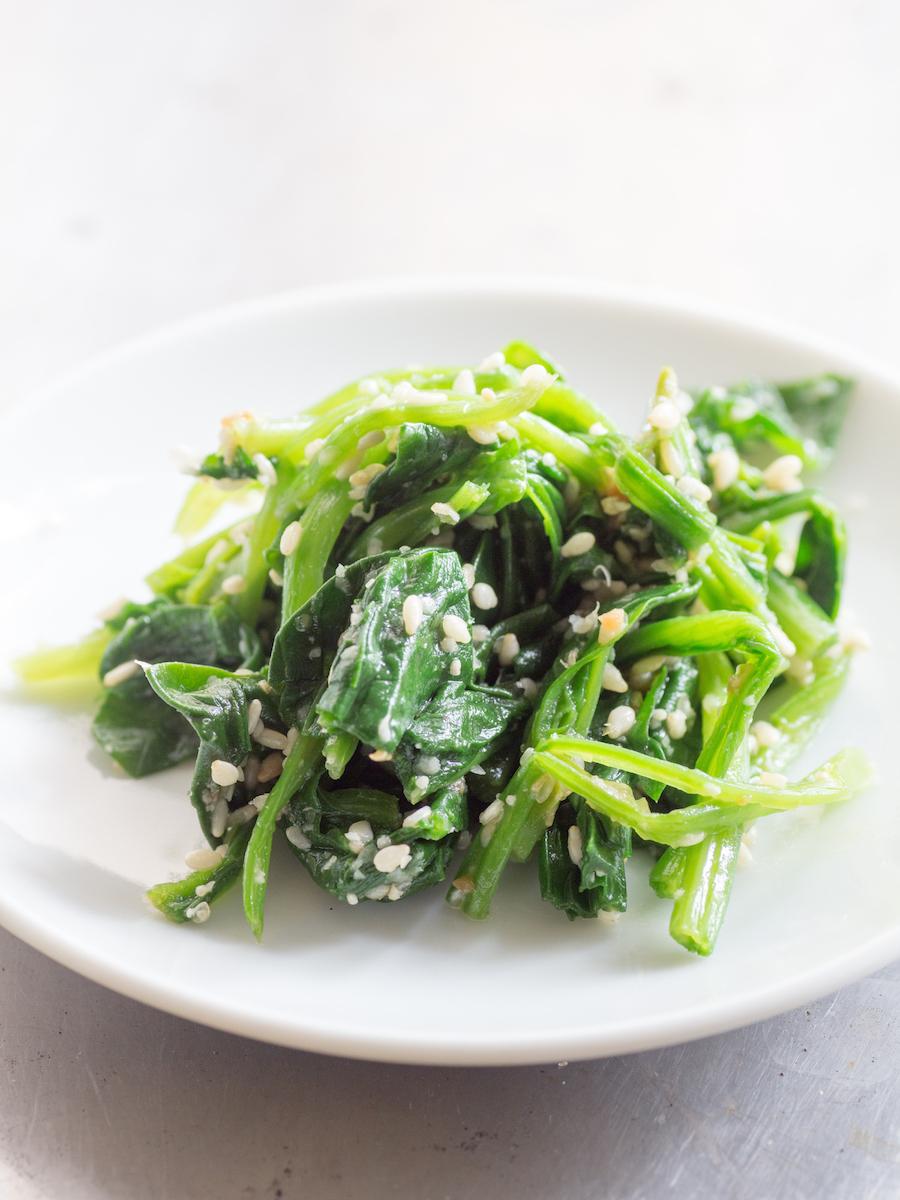ohitashi spinazie