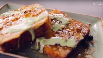 wentelteefjes van courgettebrood