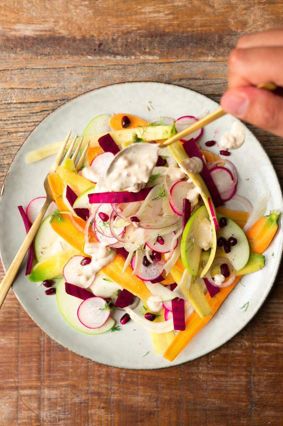 salade van rauwe groente
