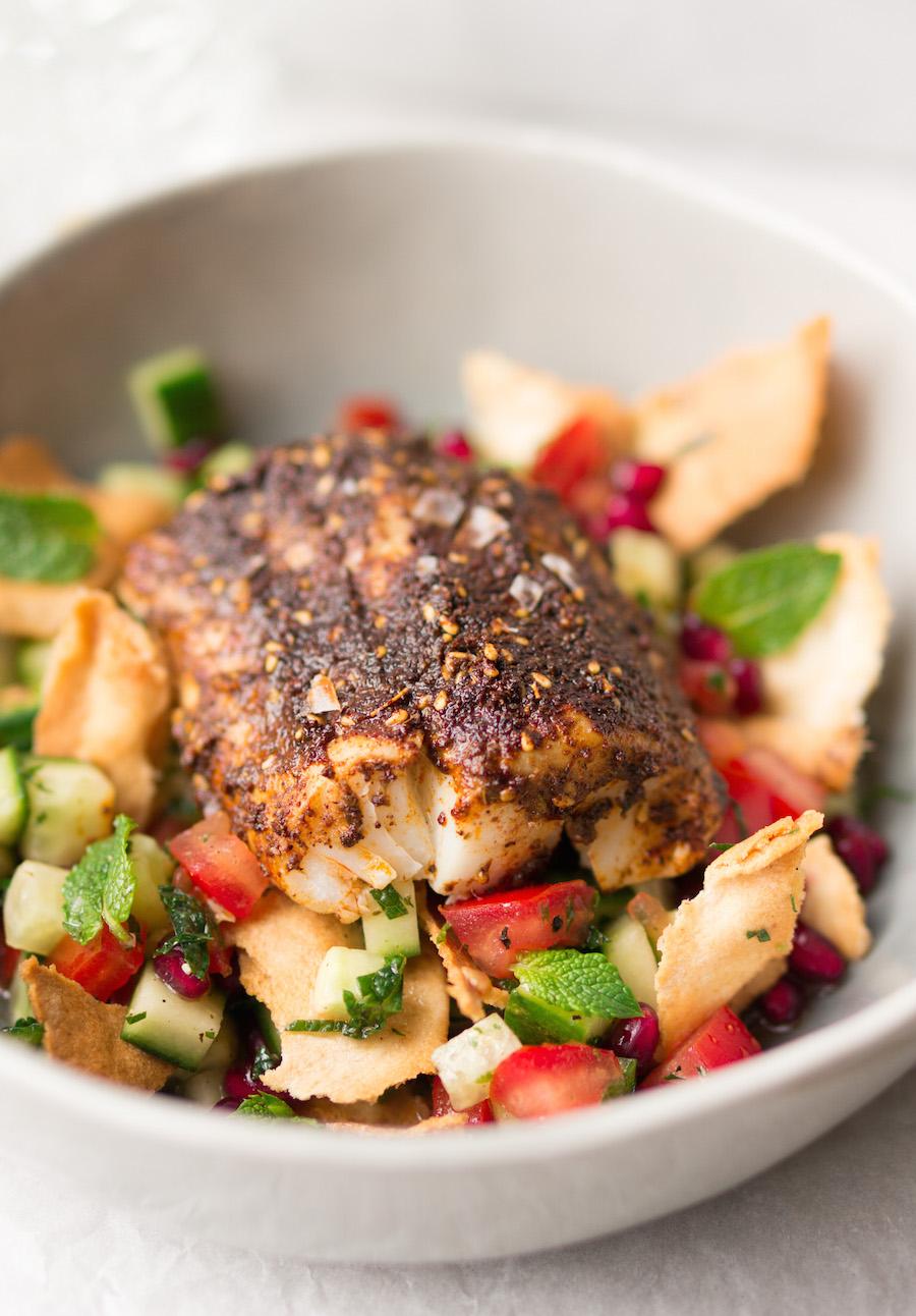 vis met een spicy kruidenkorstje