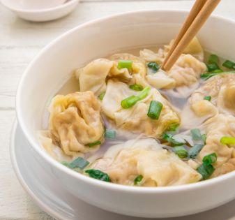 wontonsoep kant-en-klare dumplings