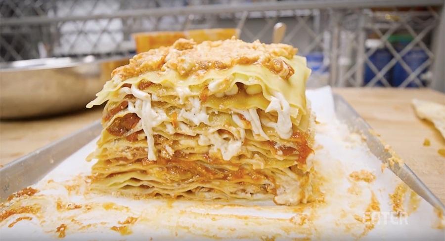 lasagne van eend