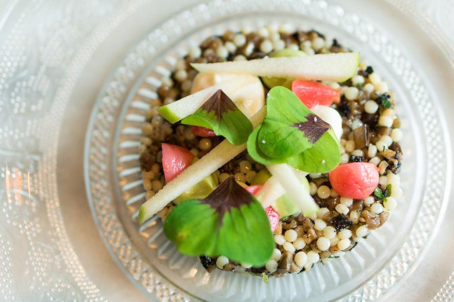 vegetarische tartaar aubergine