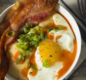 polenta bacon eggs
