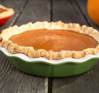 pumpkin pie dish