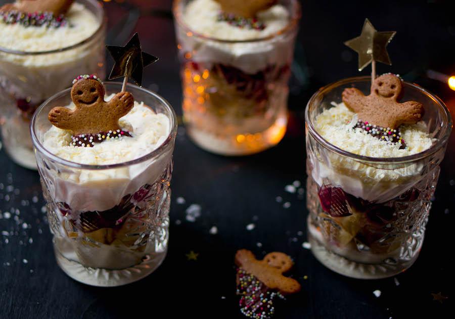 trifle in glaasjes voor kerst
