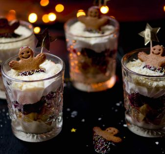 gingerbread trifle in glaasjes