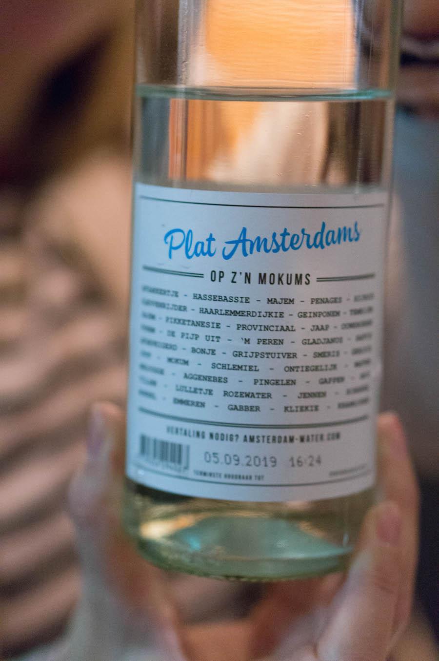 Plat Amsterdams tafelwater