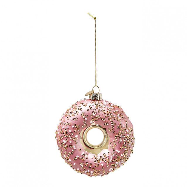 Culinaire kerstbal donut
