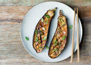 aubergines met miso recept