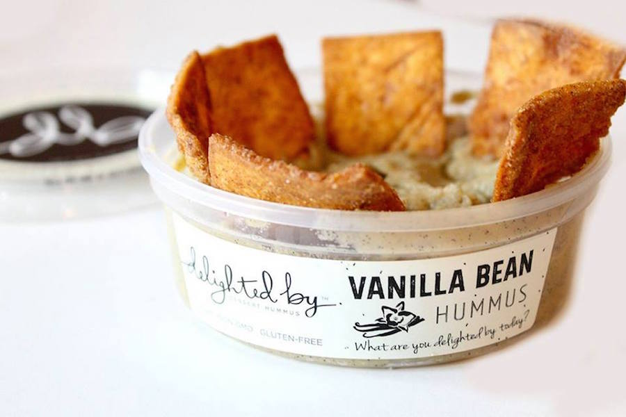 vanille hummus als dessert