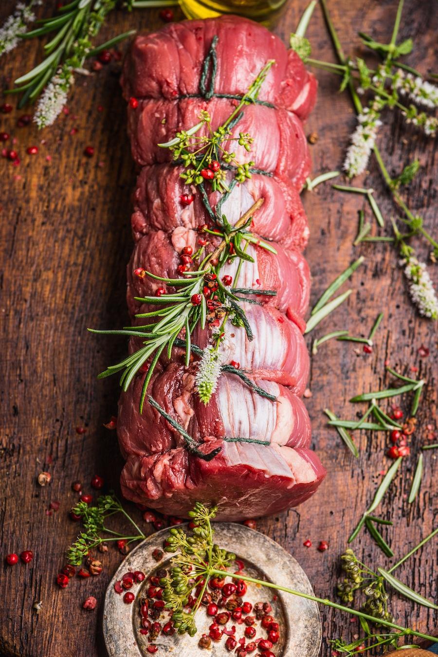 vlees opbinden slagerstouw