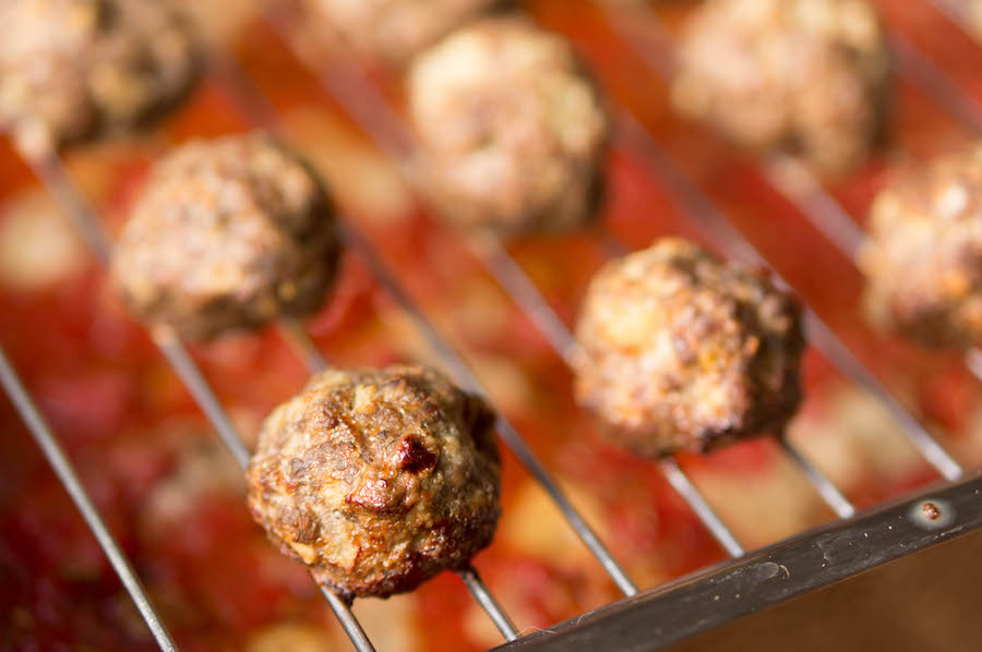 gehaktballen uit de oven