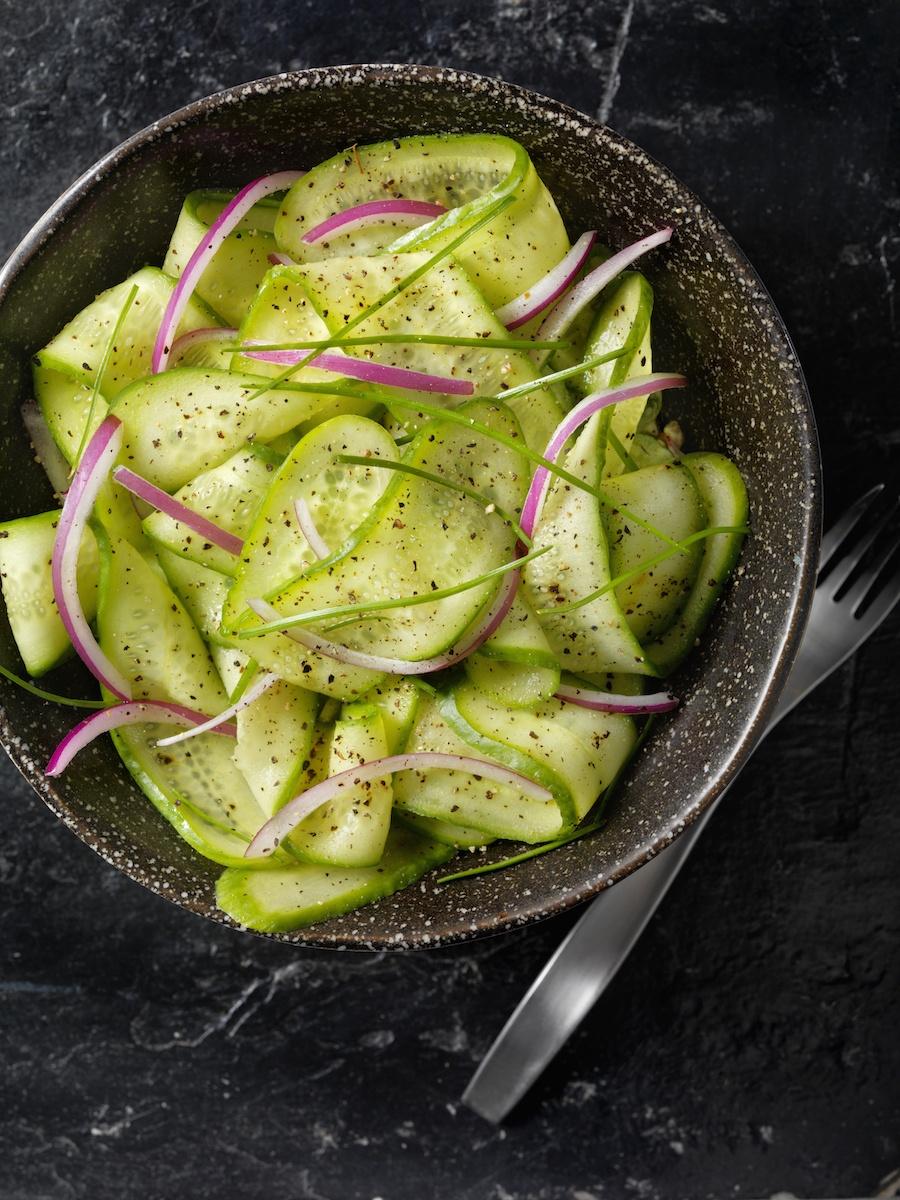 snelle pickles ingemaakte komkommer