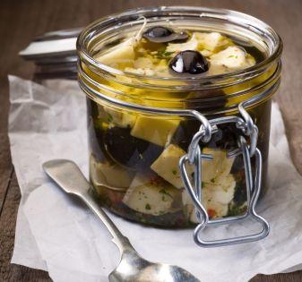 kaas bewaren in olijfolie