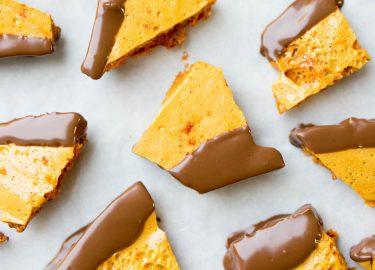 honeycomb met chocolade