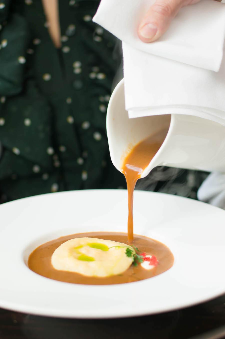 bisque ravioli Brasserie Ambassade