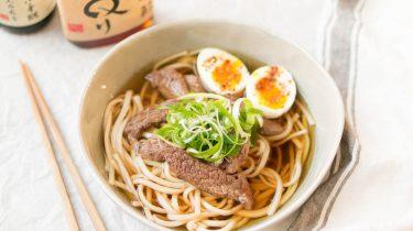 Japanse ramen met rundvlees