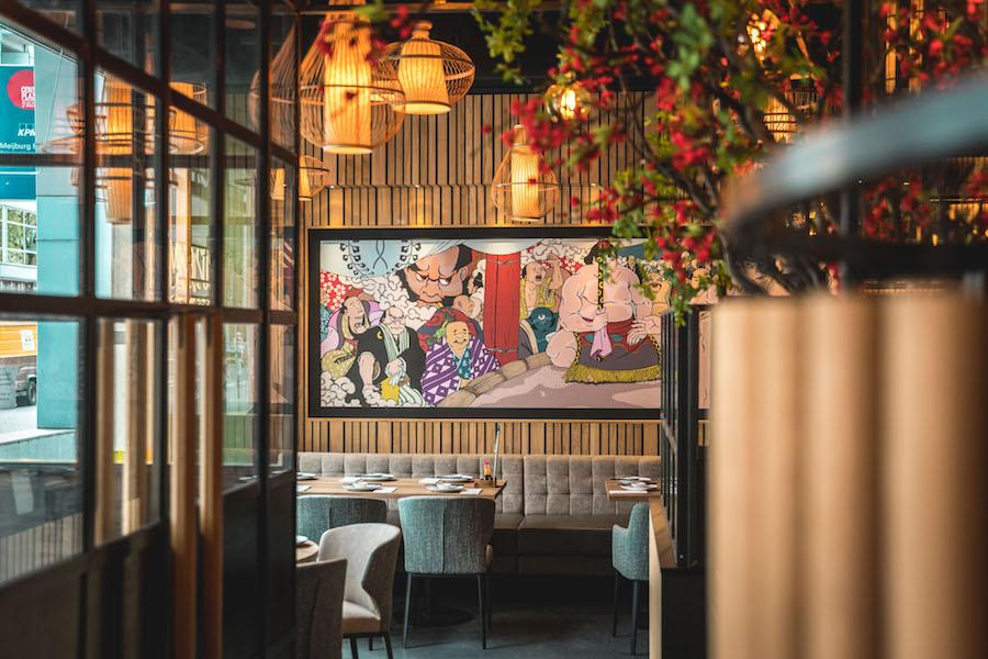 Interieur bij Miso Sushi in Rotterdam