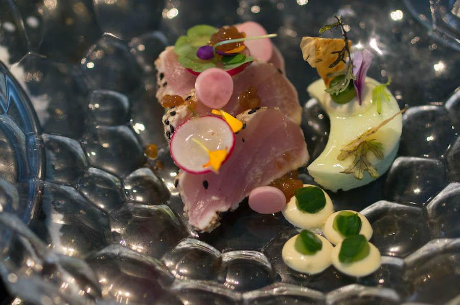 Geschroeide Albacore tonijn