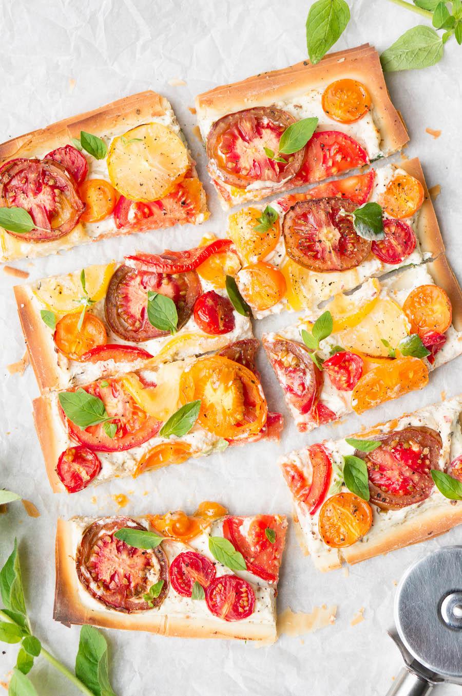 Snel tomatentaartje