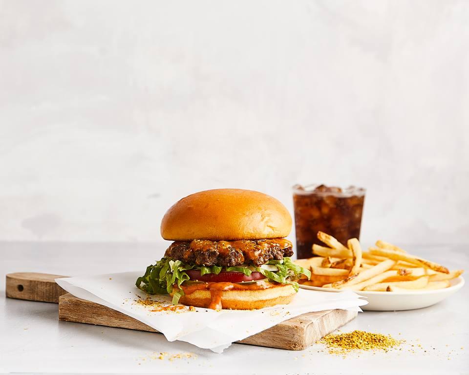 Verse hamburger uit de burgermachine