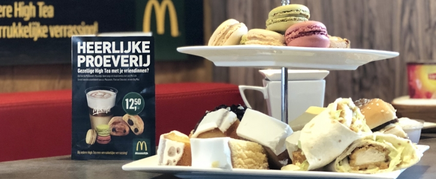 High tea'en bij McDonald's