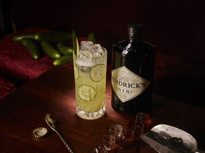 Hendricks gin met komkommer