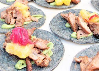 Taco's van Voltaire bij Dinner at the Parc