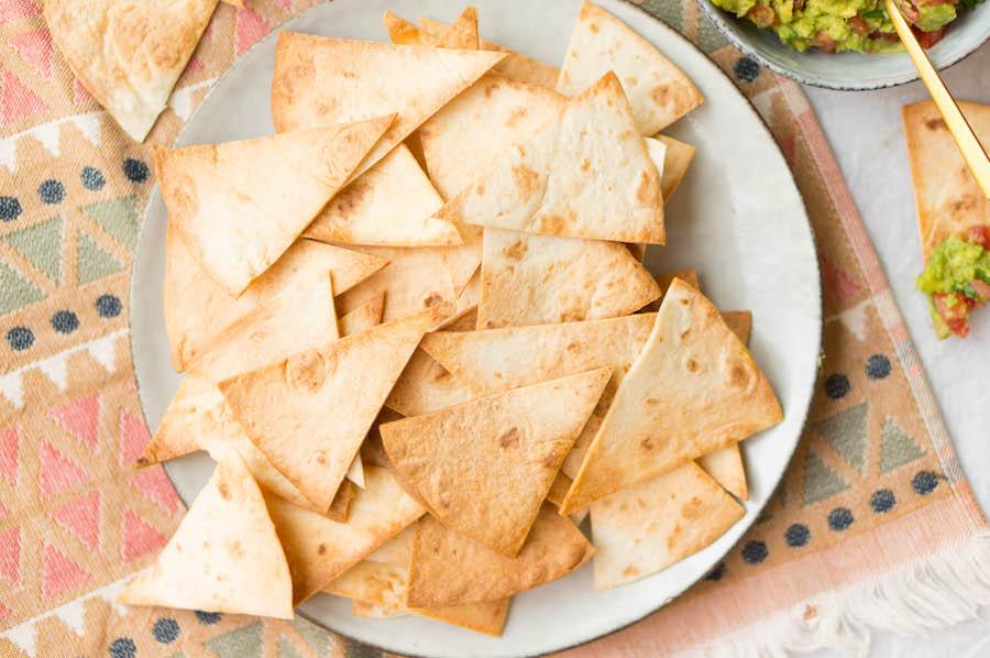 Zelf tortillachips maken wraps