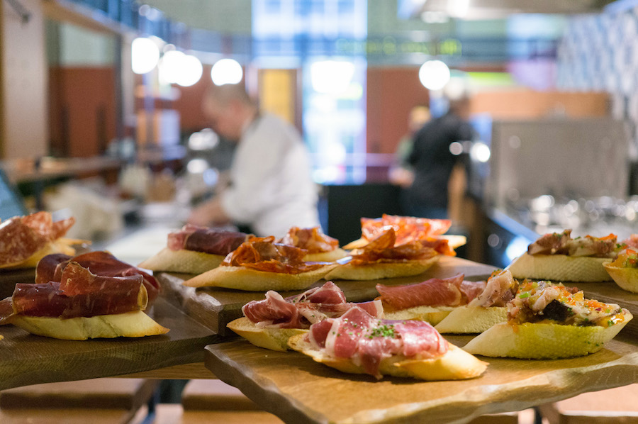 Pintxos in De Foodhallen in Rotterdam