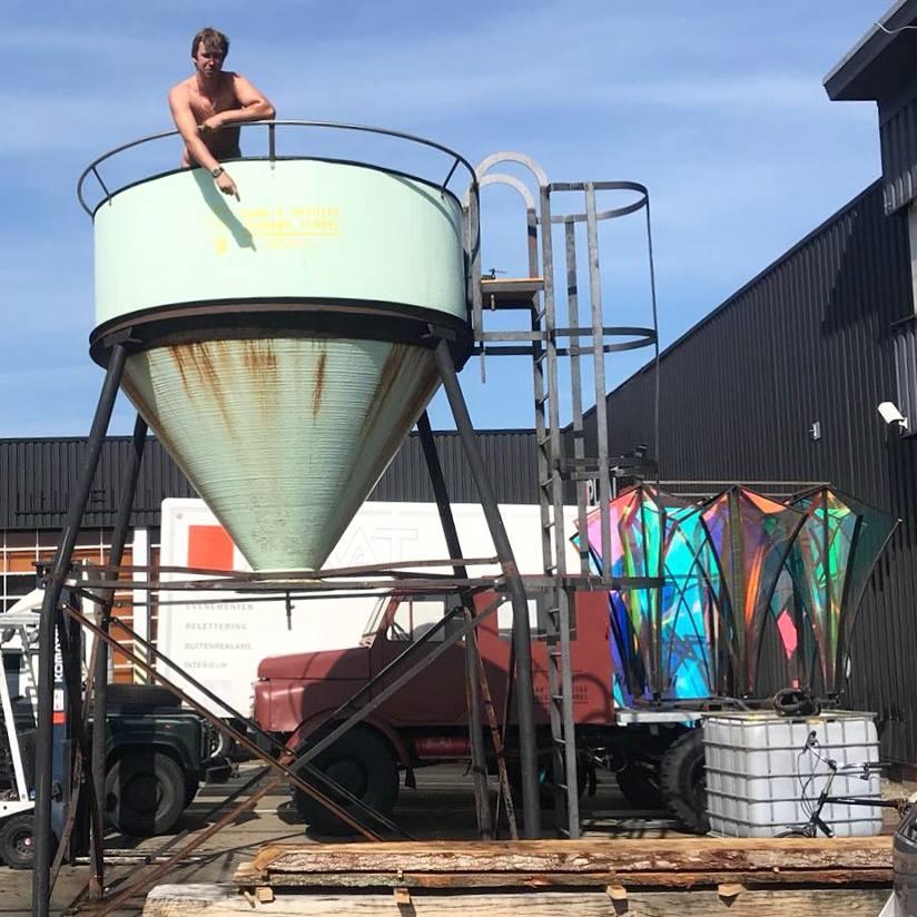 Watertank bij Klaproos Amsterdam