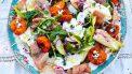 Gegrilde abrikozensalade naar recept van Jamie Oliver