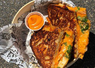 Kimchi tosti bij Loaded in Utrecht